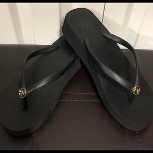 Tory Burch black platform sandals